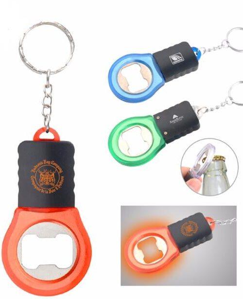 bottle opener keychain with led light. Black Bedroom Furniture Sets. Home Design Ideas